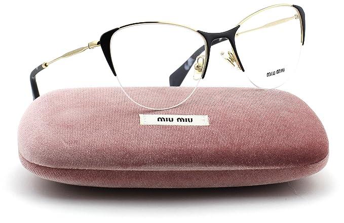 1e2baf17fcd Miu Miu MU 50OV Cat-Eye Women Eyeglasses Pale Gold Frame 53mm 1AB1O1 ...