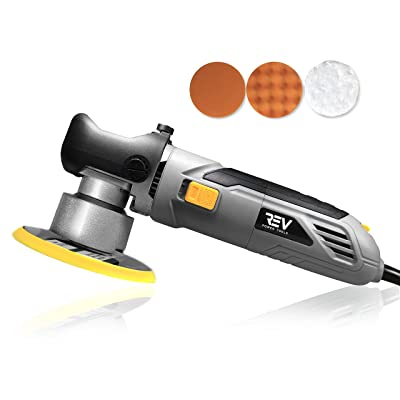 VViViD REV 6 Inch Dual Action Random Orbital Polisher 6400 RPM + Buffing Pads and case.: Automotive
