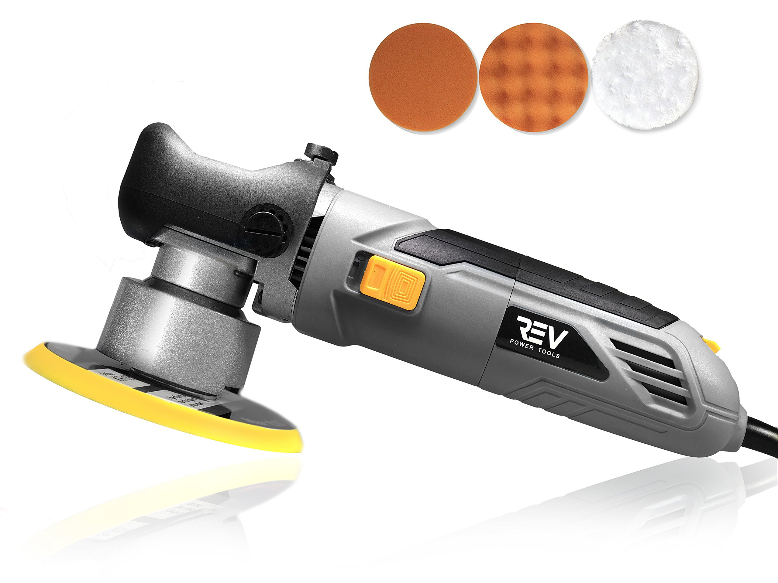 VViViD REV 6'' Dual Action Random Orbital Polisher 6400 RPM + Buffing pads and case.