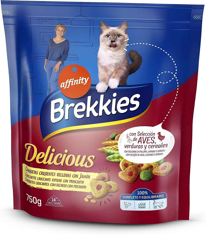 Brekkies - Brekkies Delicious - Comida para gatos - 750 g