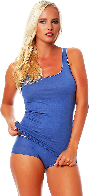 SCH/ÖLLER Damen Shirt ohne Arm Micro-Modal 3er Pack