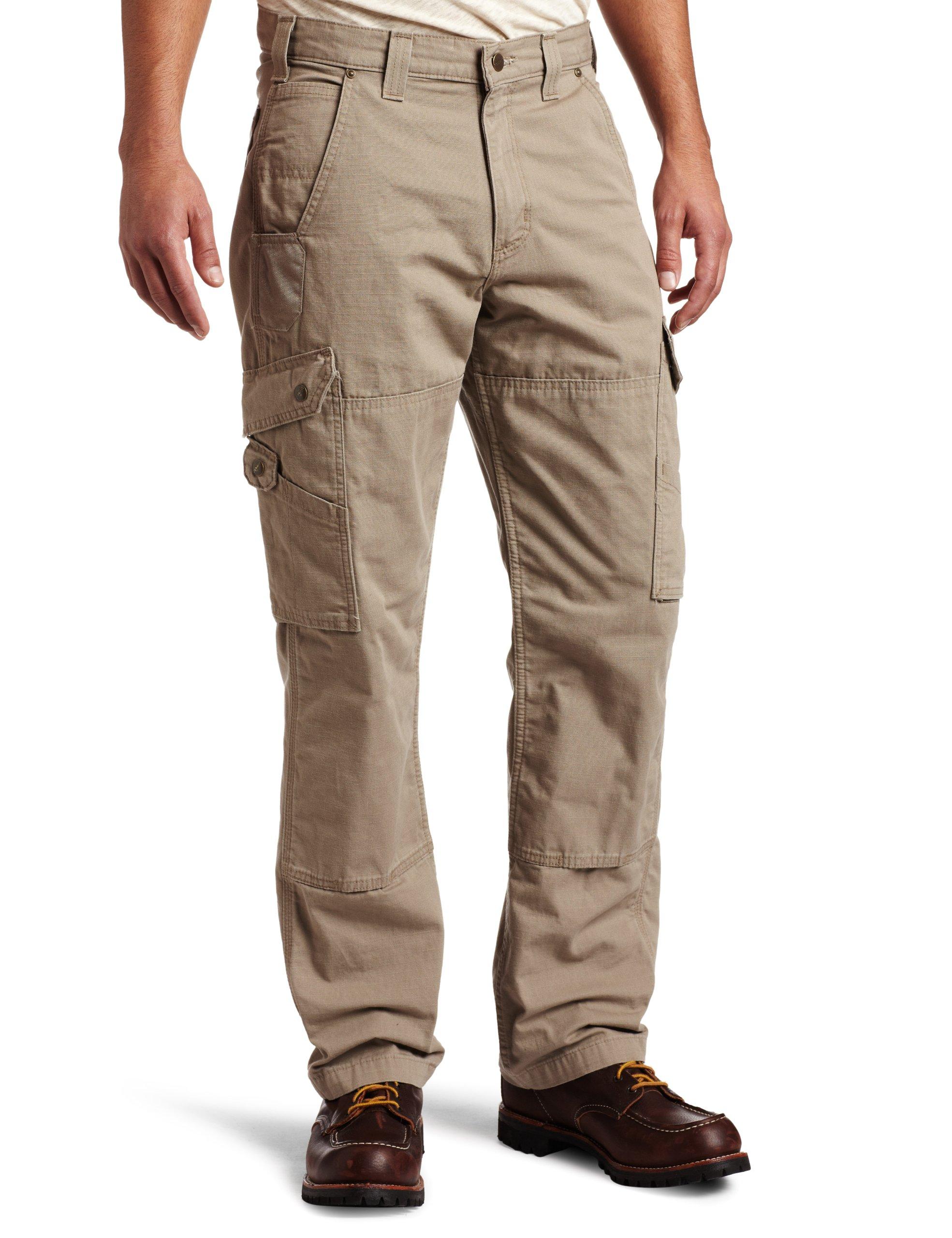 Carhartt Men's Cotton Ripstop Relaxed Fit Work Pant,Desert,36 x 32