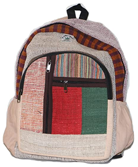 Mochila de fibra de cáñamo / Daypack para la escuela, viajes, vacaciones, ocio