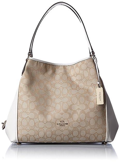 Coach Edie Shoulder Bag 31 In Signature Jacquard  Amazon.ca  Shoes ... 56ebde71bf4dc