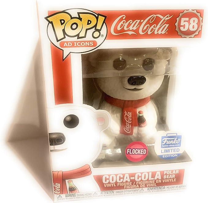 Coca-Cola Christmas Baby Polar Bear Sitting Vinyl POP Figure Toy #58 FUNKO MIB