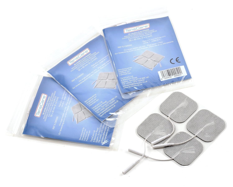 TensCare E CM Set de almohadillas superiores de electrodos x para uso