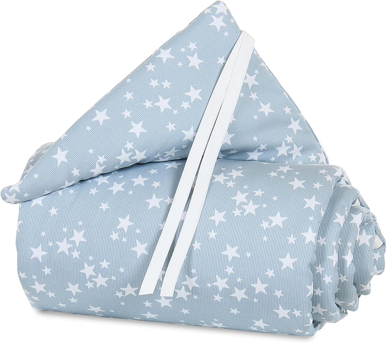 Babybay Tour de lit Pique pour original bleu azur /étoiles Blanc
