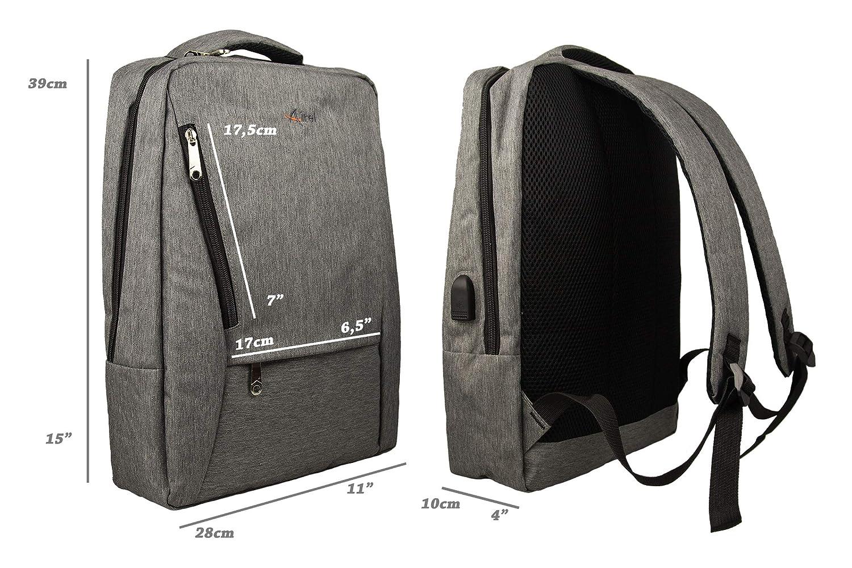 ca99b8af7 Airel Mochila Inteligente | Mochila Portátil 15.6 Pulgadas | Mochila con  Conector USB | Daypack Portátil | Mochila con Cargador USB Medidas:  60x39x95 cm.