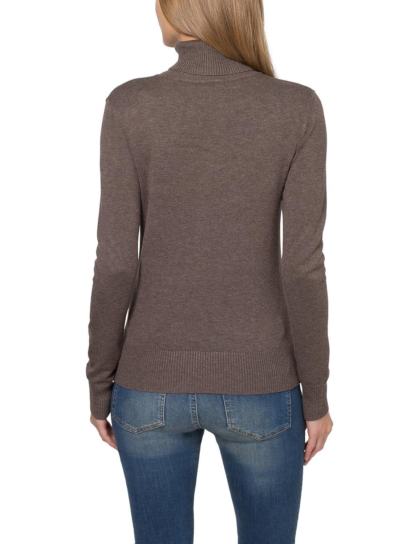 berydale BD241, Jersey con Cuello Cisne para Mujer, Marrón (Braun Melange), 42 (Talla del fabricante: 42): Amazon.es: Ropa y accesorios