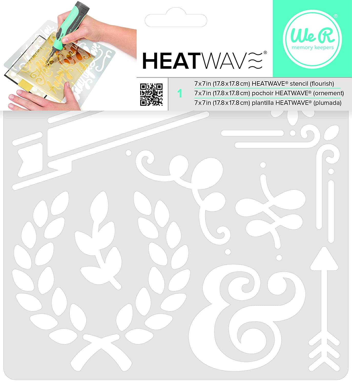 American Crafts We R Memory Keepers Heatwave Flourish stencil, 17,8x 17,8cm 662664