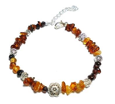 c645f241fa3 Bracelet d  Ambre Femme - Perles Miel et Cognac. Un bijou discret et naturel
