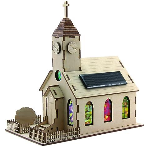 Solar Holzkirche Bausatz Baukästen & Konstruktion