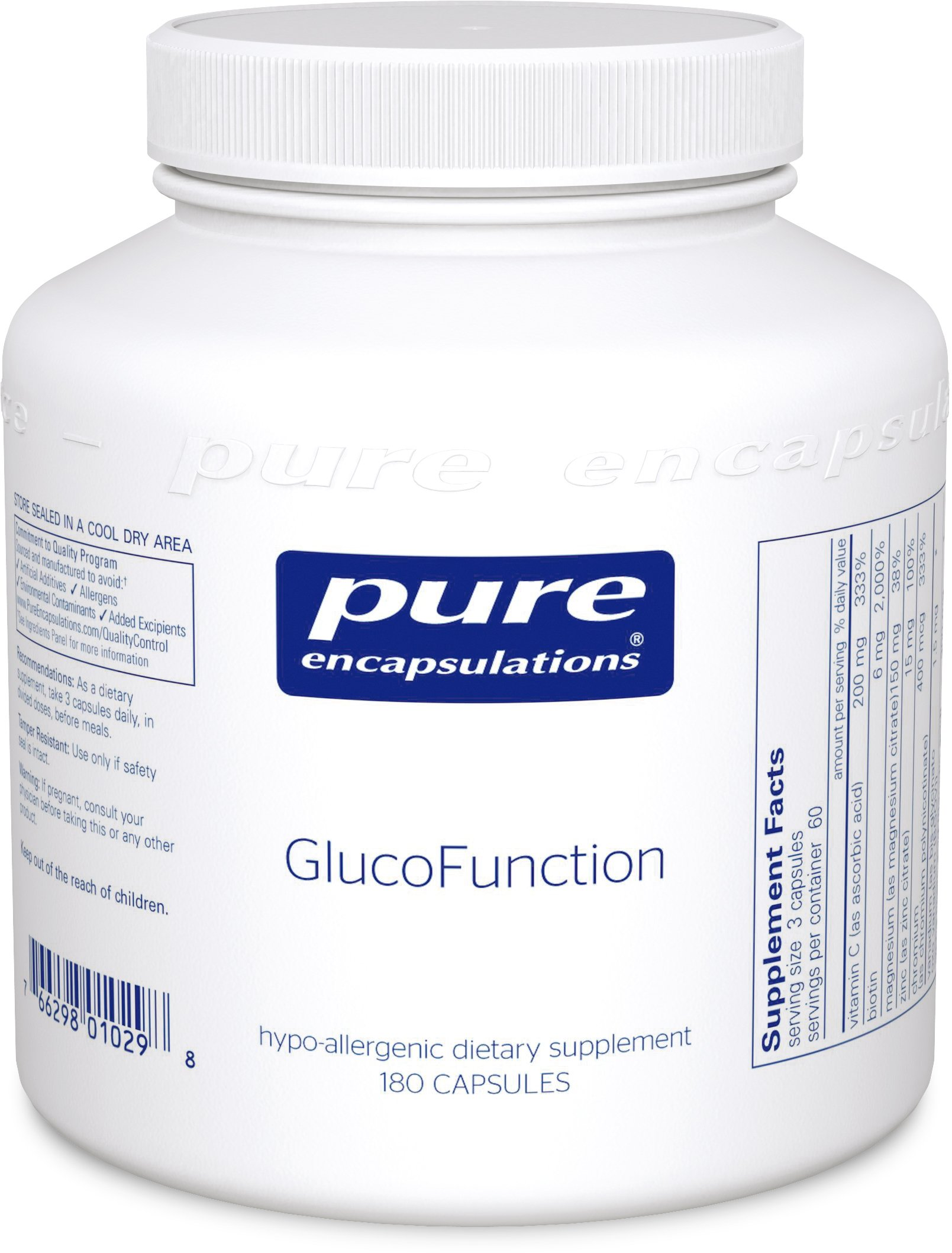 Pure Encapsulations - GlucoFunction - Comprehensive Support for Healthy Glucose Metabolism* - 180 Capsules