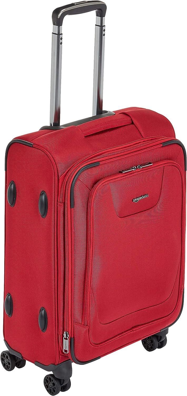 AmazonBasics - Maleta con ruedas de calidad superior, expandible, con lados blandos y cierre con candado TSA, 53cm, Rojo
