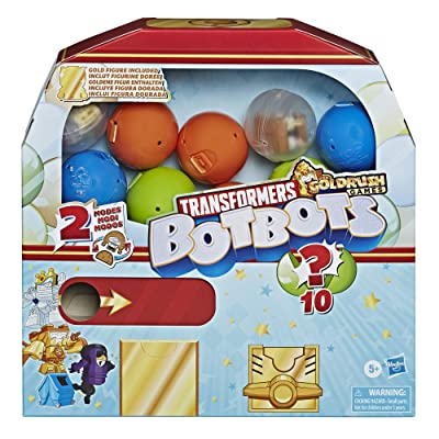 Transformers Toys BotBots Series 4 Surprise Unboxing: Gumball Machine - 5 Figures, 4 Stickers, 1 Rare Gold Figure - for Kids Ages 5 and Up by Hasbro: Toys & Games