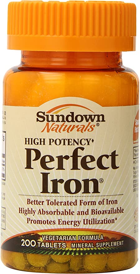 Amazon.com: Sundown perfecto Hierro, 200 comprimidos (Pack ...