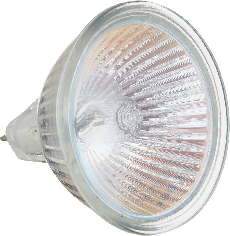 GU5.3 W//O Cover Glass PHILIPS 20W 12V MR16 Halogen Long Life Flood BAB Bulb