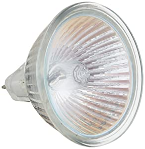 20MR16/FL - BAB -20 Watt - Flood- 12V - MR16 - GU5.3 Bi-Pin Base - Light Bulb With Lens (10 Pack)