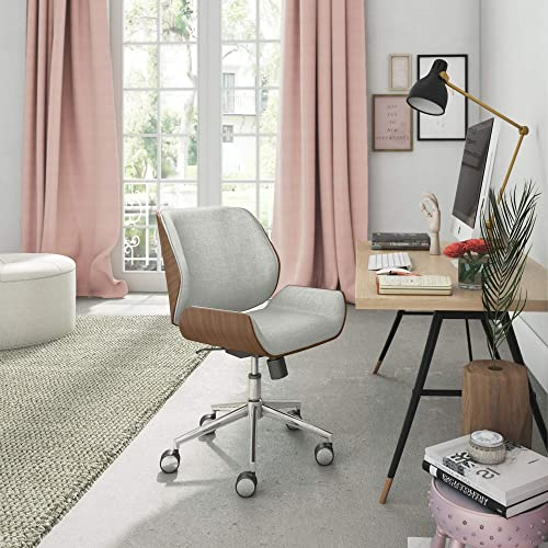 ELLE D cor Ophelia Bentwood Task Chair, French Gray