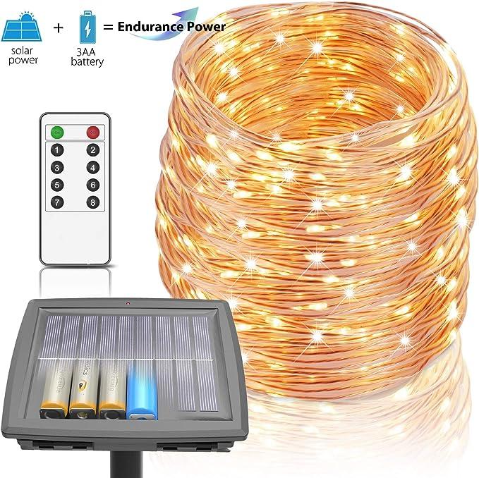 Homestarry 100 Ft Solar Rope Lights