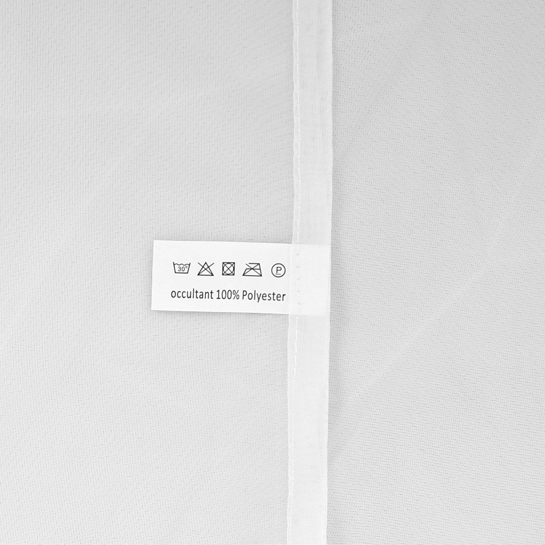 Doconovo Lot de 2 Rideaux Voilages Solide /à Pattes pour Cuisine 140x 175 cm Blanc