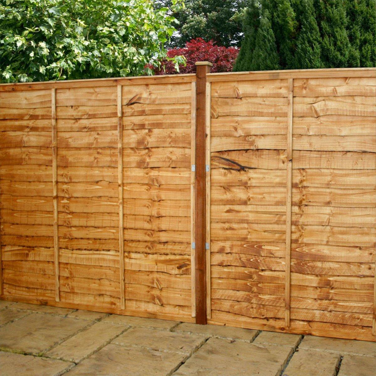 fence 6ft. 5ft X 6ft Waltons Horizontal Overlap PreTreated Wooden Garden Fence Panels Amazoncouk U0026 Outdoors