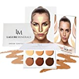 Lagure Minerals Cream Contour Kit - Best Contour Palette and Creamy Concealer with Smooth, Pigmented Cream - Step-by-Step Contour Guide Included