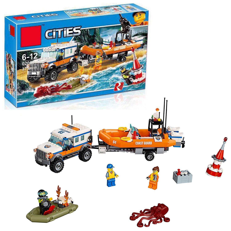 GWO Stadt-reihenküsten-rettungsmannschaftskinder, Die Die Die Puzzlespielbausteinspielwaren Zusammenbauen Und Einfügen 91c49a