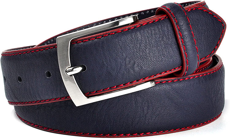 Fashion Man Belt Split Leather Belt Italian Design Casual Mens Leather Belts