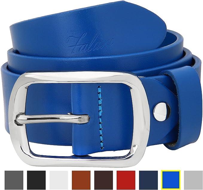Falari® Men/'s Genuine Leather Belt Stainless Steel Buckle 38mm 9002