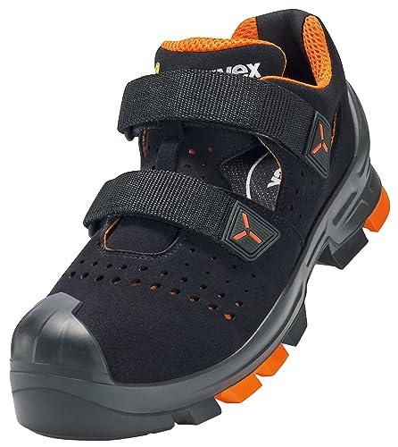 UVEX Sicherheitssandale 6500 UVEX 2 S1 P SRC universeller Arbeitsschuh Farbe: Schwarz Gr. 51
