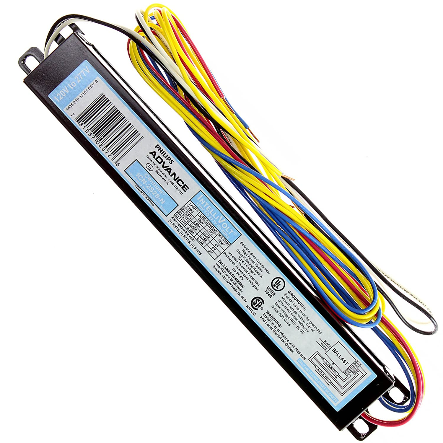 Philips Advance Icn 2s28 N Centium Electronic Ballast 120 277v T8 Wiring Diagram F28t5 2 Lamp