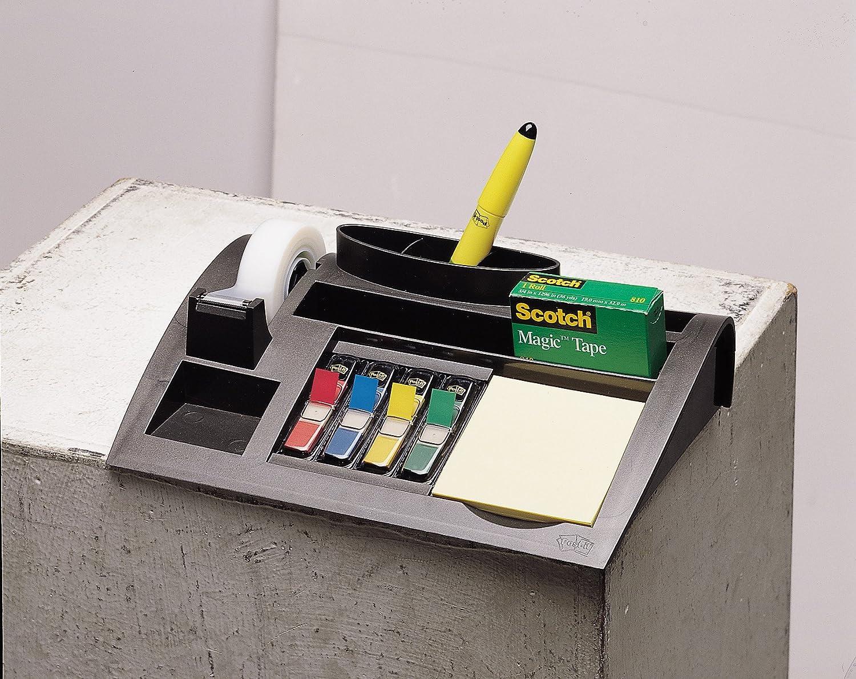 Schreibtisch Organizer mit 7 Fächern Post-it Tisch-Organizer silber-metallic