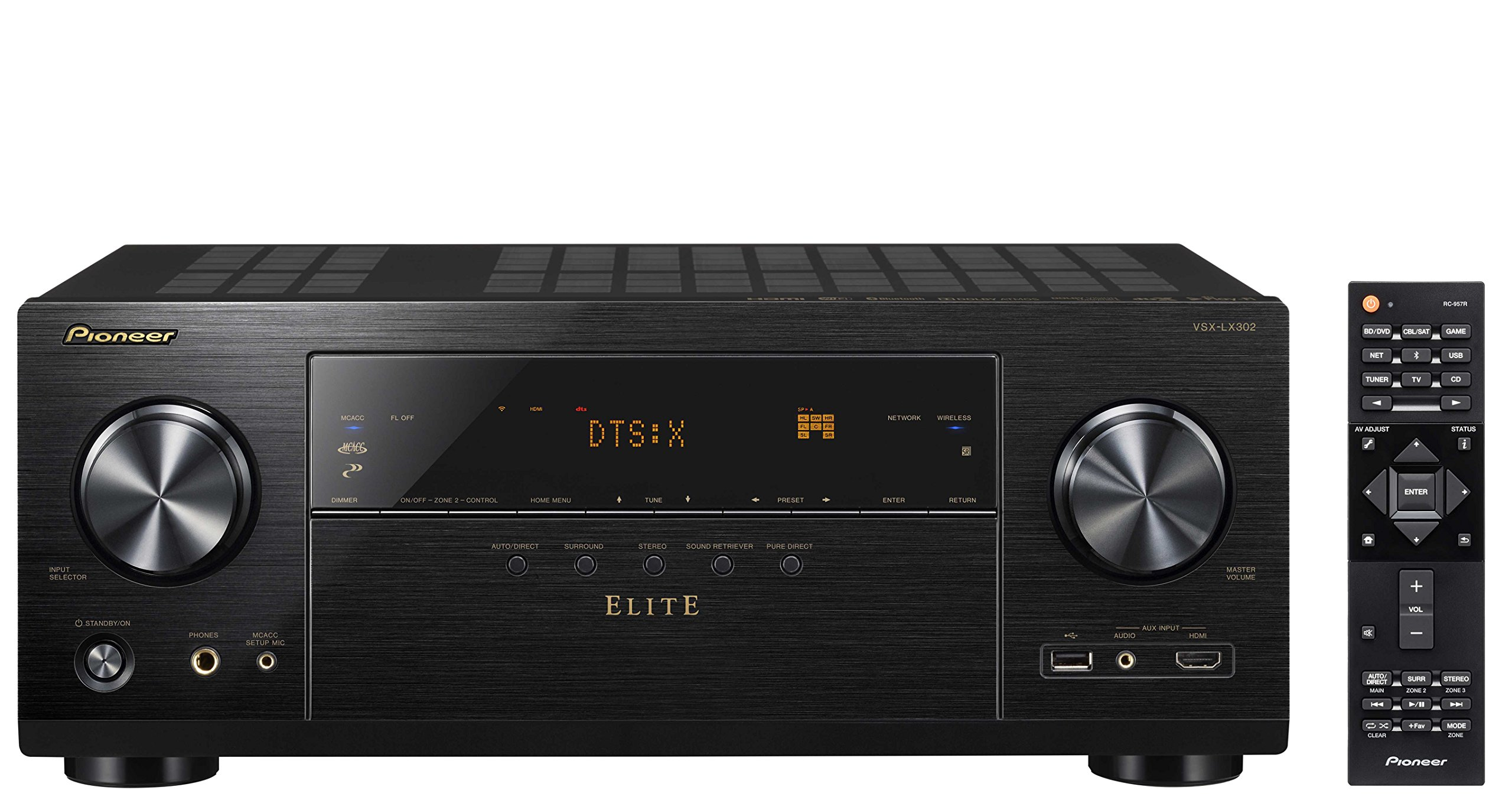 Pioneer Elite Audio & Video Component Receiver Black (VSX-LX302)