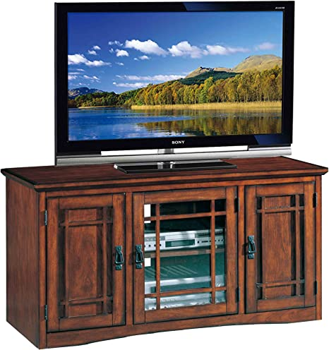 Leick Riley Holliday Mission Tall Tv Stand 50 Inch Oak Furniture Decor