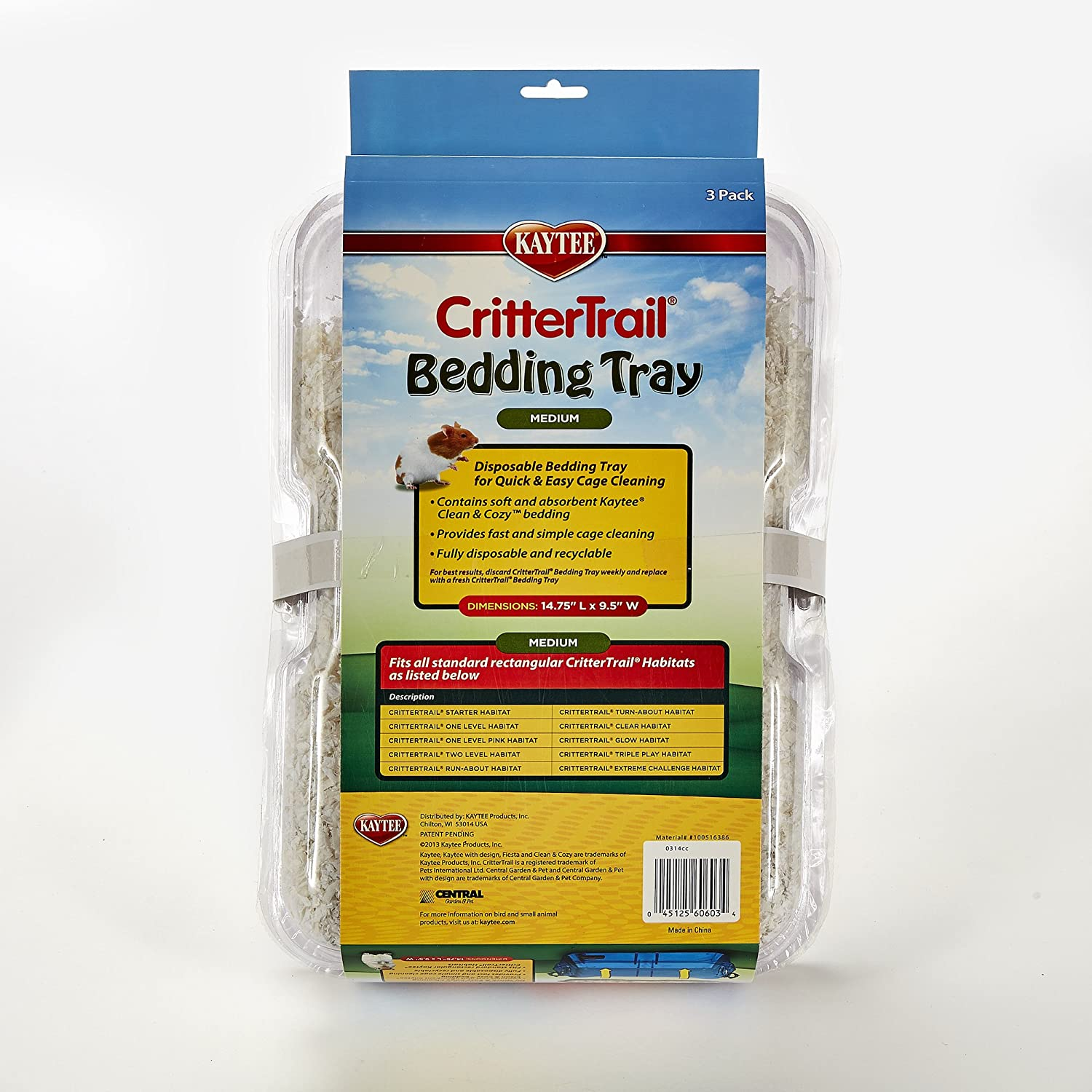 Amazon.com: Kaytee Critter Trail URNnDO Bedding Tray Habitat (Pack of 2): Home & Kitchen