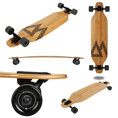 Magneto Longboards Bamboo Longboards for Cruising, Carving, Free-Style, Downhill and Dancing