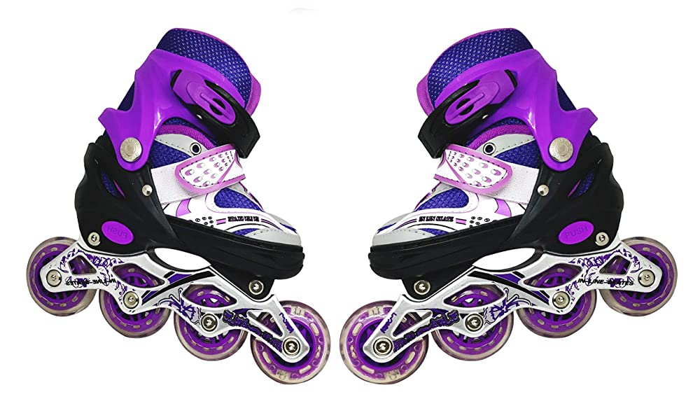 High Performance Inline Skates Inline Skates with PU Flashing Wheel Aluminum Body in-Line Skates with Adjustable Length
