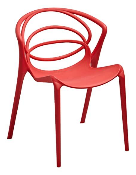 Gold Sparrow Orion Stackable Accent Chair, Set Of 2, Red