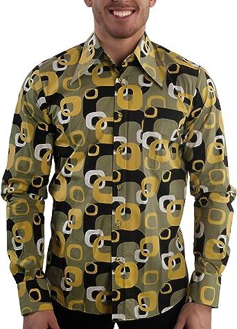Comycom - Camisa Casual - para Hombre Grã¼n X-Large: Amazon ...