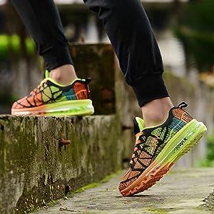 Zapatos para Correr en Montaña y Asfalto Aire Libre y Deportes Zapatillas de Running Padel para Hombre Mujer(EU 36,Naranja Negro): Amazon.es: Zapatos y complementos