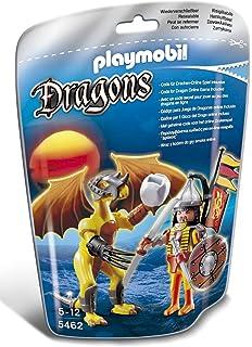 PLAYMOBIL Dragones - Dragón Fuego con Guerrero, Juguete ...