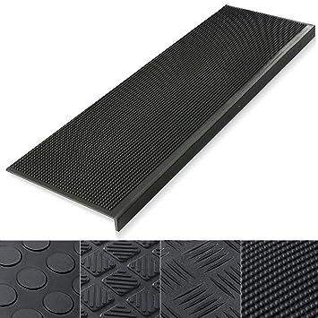 Indoor U0026 Outdoor Bullnose Rubber Non Slip Stair Treads, 30u0026quot; X 9u0026quot;