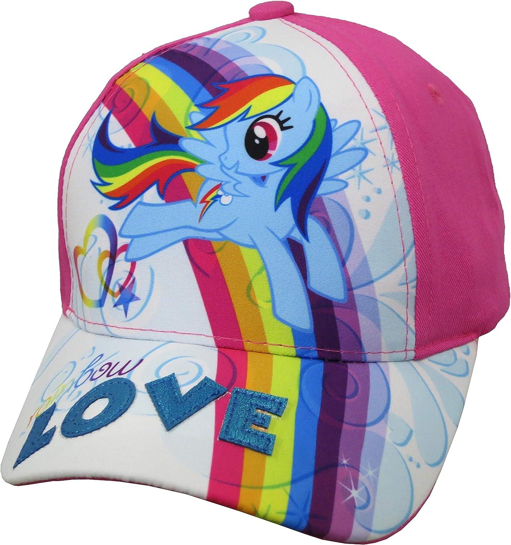 Hasbro My Little Pony Girls' Rainbow Dash Size 4 to 14 Baseball Cap