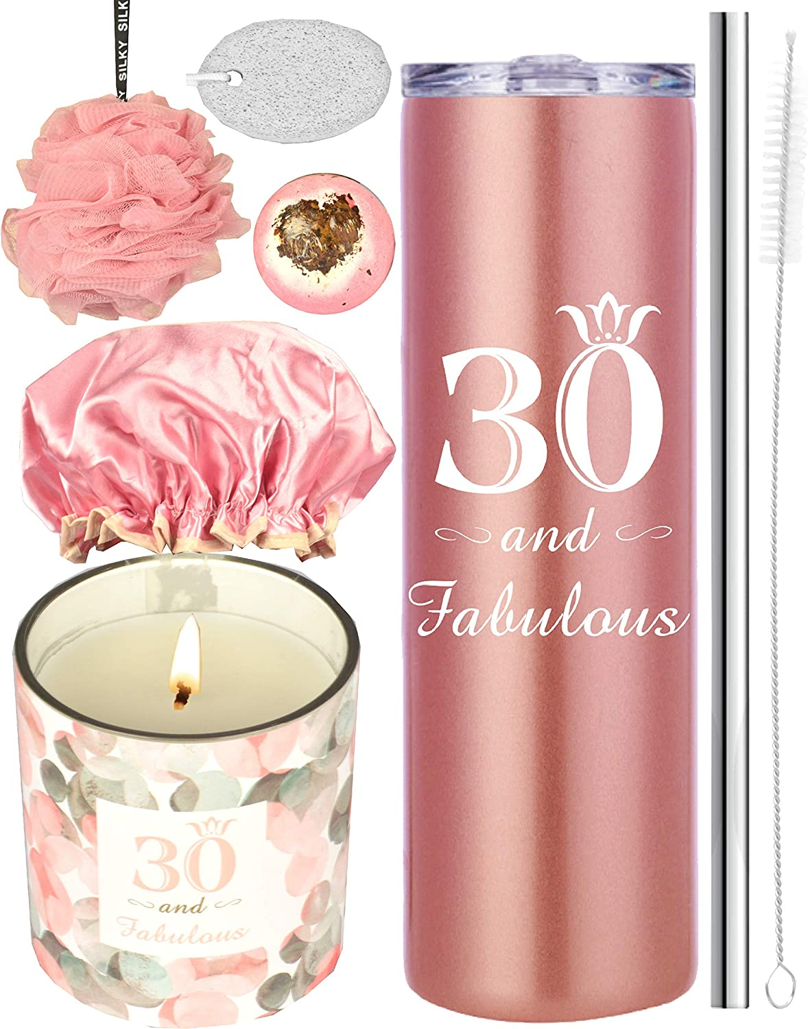 30th Birthday Gifts for Women, 30 Birthday Gifts, Gifts for 30th Birthday Women, 30th Birthday Decorations, Happy 30th Birthday Candle, 30th Birthday Tumblers, 30th Birthday Party Supplies