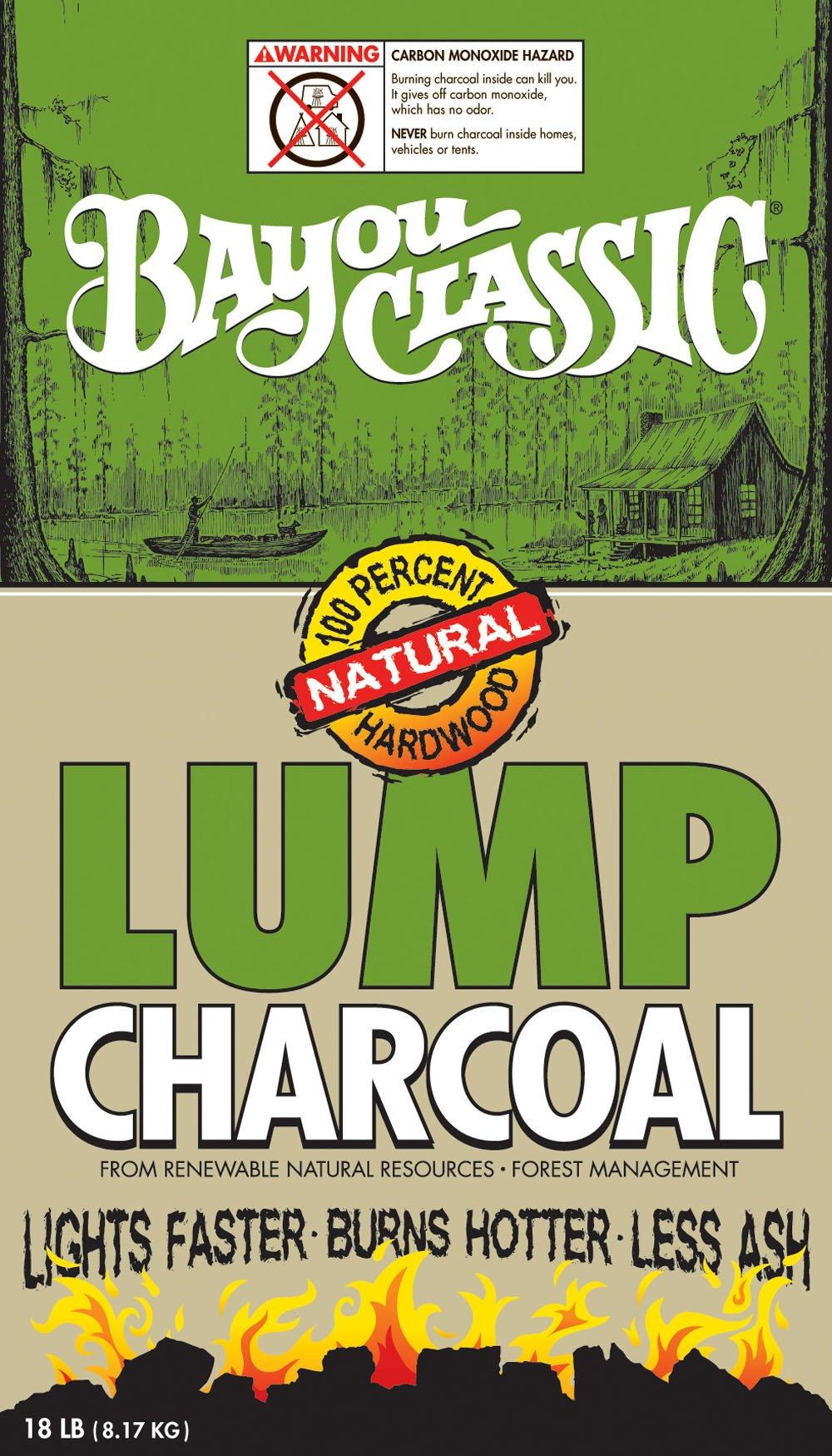 Bayou Classic 500-418, 18-lbs Bag Natural Lump Charcoal