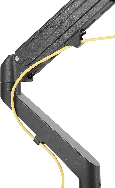 43-68,5 cm Ergonomische Gasgest/ützte Arm f/ür 17-27 Bildschirme 2 Montageoptionen SGSP Monitor Halterung Einarm VESA 75x75-100x100 mm