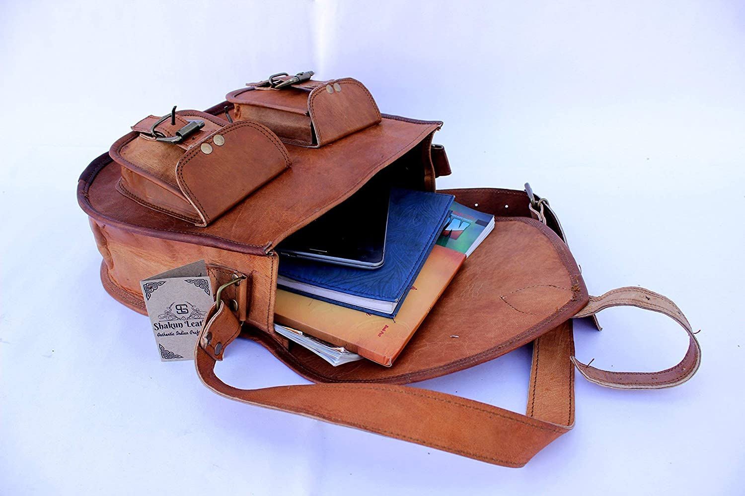 NEW YEAR 2019 100/% Pure Leather with free shipping 2 DAYS left Sankalp Leather Handmade Women Vintage Genuine Cross Body Bag Double Pocket Front Satchel SALE 10 x 13 Inch