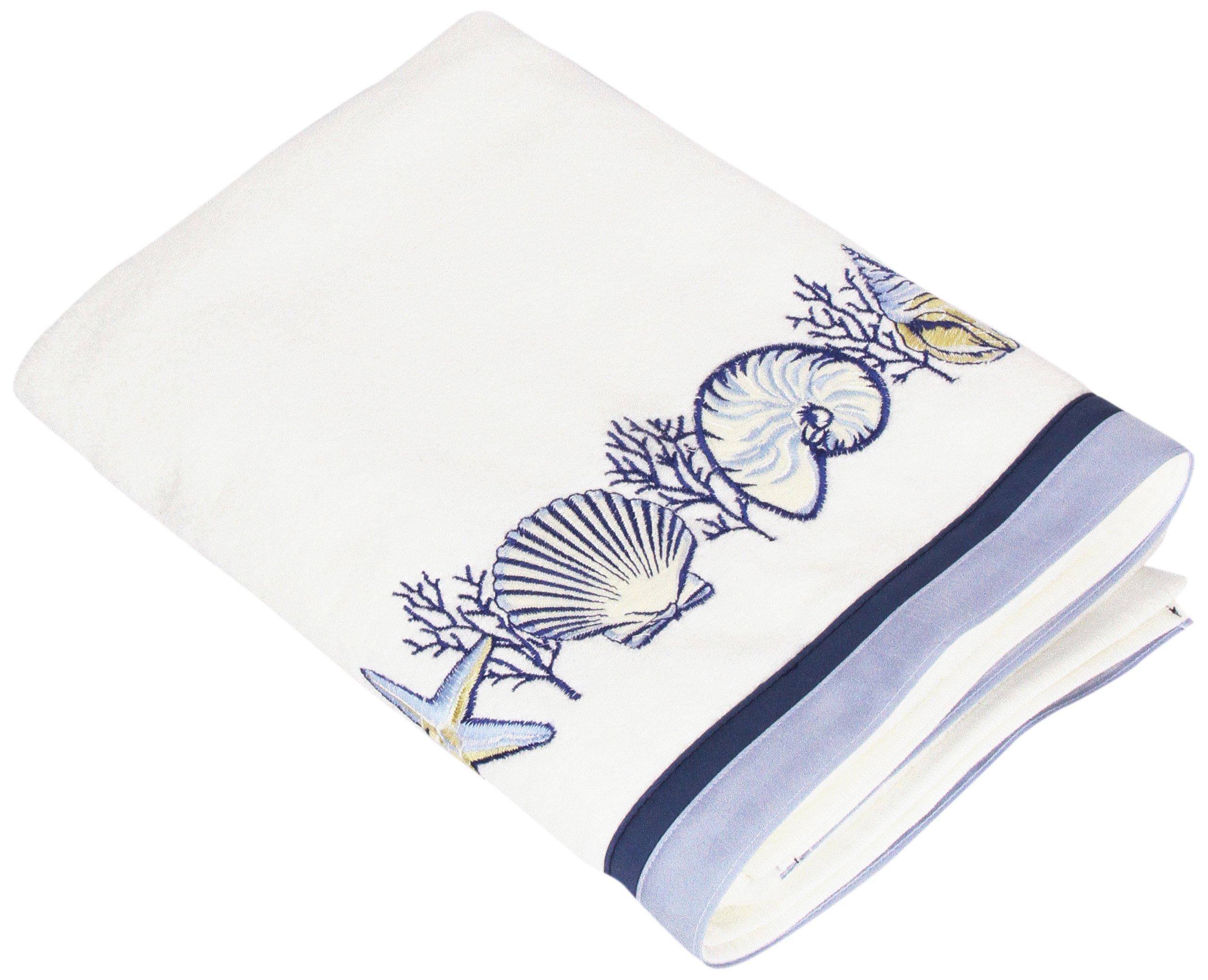 Avanti Linens Nassau Bath Towel, White - Avanti Linens 100% Cotton For decorative bathrooms and guest bathrooms - bathroom-linens, bathroom, bath-towels - 81I9bxRC3TL -