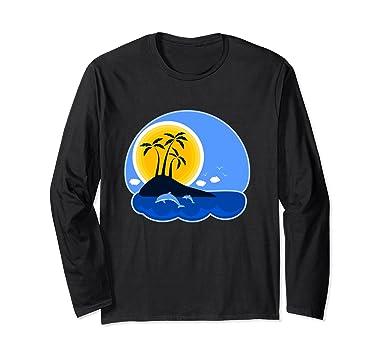 Unisex Camisa playa manga larga para hombre y mujer de verano 2018 Small Black